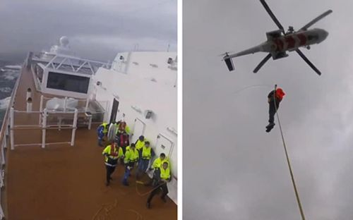 Viking Sky: Dramatic footage of passenger rescue from stranded cruise ship