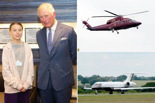 Prince Charles took three private jet flights in 11 days then met Greta Thunberg