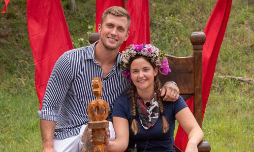 Jacqueline Jossa heads home with husband Dan Osborne and children after I'm A Celebrity win