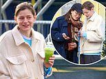 The Crown's Emma Corrin shares a laugh with a female pal days before debut as Princess Diana