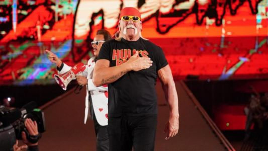 Hulk Hogan reveals painful injury and full beard as he bonds with WWE's Rusev over bicep tear