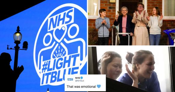 NHS thanks British public for 'emotional' nationwide round of applause