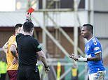Motherwell 0-2 Rangers:Alfredo Morelos scores and is sent off for gesturing at home fans