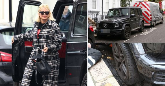 Holly Willoughby parks £100,000 Mercedes in disabled bay after getting flat tyre