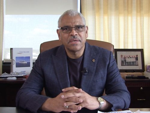 Carnival Corporation CEO tells employees in a leaked video that there are no mass cuts coming as industry reels from coronavirus pandemic: 'We'll be in a position to survive this' even as operations stop