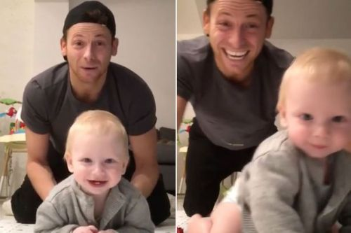 Joe Swash announces baby Rex with Stacey Solomon is crawling with adorable video