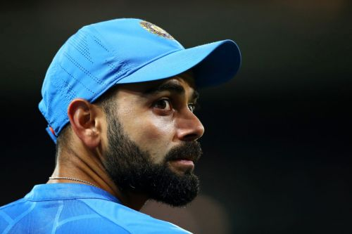 India captain Virat Kohli reacts to West Indies beating England in first Test since coronavirus lockdown