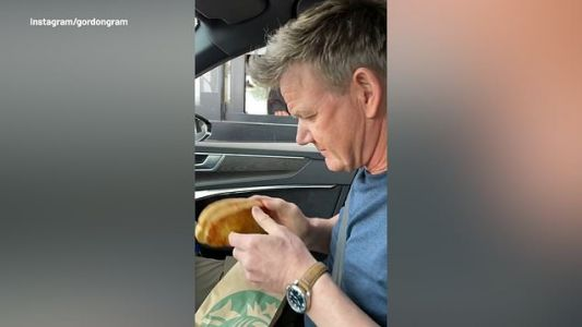 Gordon Ramsay pranks drive-through staff with toastie order but fans aren't impressed he wasted food