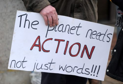 GALLERY: Extinction Rebellion protesters lobby Highland councillors attending Climate Change Panel