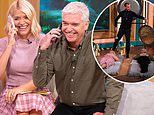 Holly Willoughby admits she feels 'numb' as she and Phillip Schofield have gong bath on This Morning