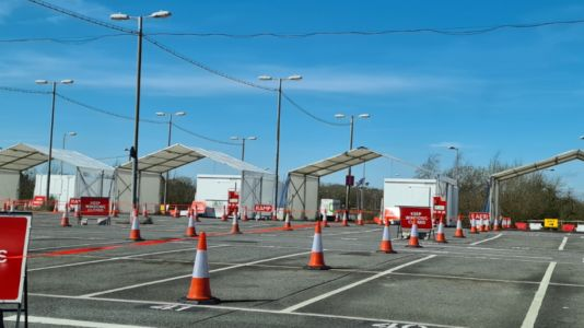Gatwick Airport's long-stay car park becomes drive-through testing centre