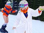 Chelsea Handler skis pantsless with a drink and joint in hand for her birthday