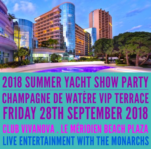 Counting down to our Club Vivanova 2018 Summer Yacht Show Party