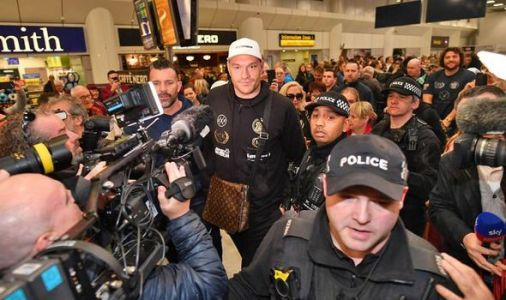 Tyson Fury arrives back in England to fanfare after Deontay Wilder triggers trilogy clause