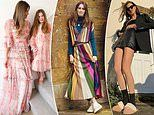 Models and socialites share their VERY glamorous 'work from home' looks