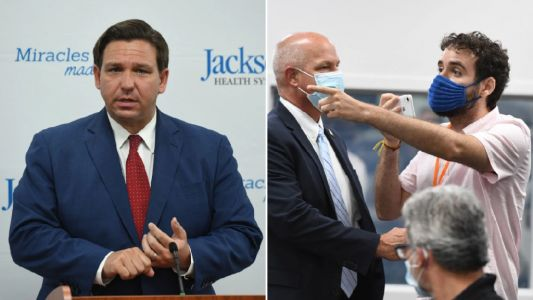 Florida governor shaken as heckler confronts him over state's coronavirus nightmare