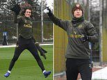 Arsenal's stars train in sub-zero temperatures ahead of their FA Cup clash with Manchester United