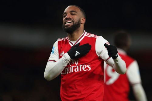 Alexandre Lacazette reacts to ending Arsenal goal drought in Newcastle United thrashing