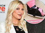 Tori Spelling posts a picture of her daughter's foot in an enormous pink cast