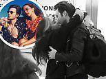 Little Mix's Jade Thirlwall gives boyfriend Jed Elliott a kiss as they reunite after 103 DAYS apart