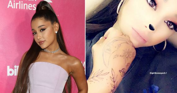 Ariana Grande can't seem to stop getting new ink as she shows off huge new hand tattoos