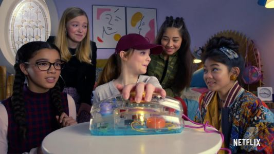 When were the Baby-Sitters Club books out and who is in the cast of the Netflix show?
