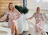 Amanda Holden and her radio co-host Ashley Roberts are 'twinning' in pink floral dresses