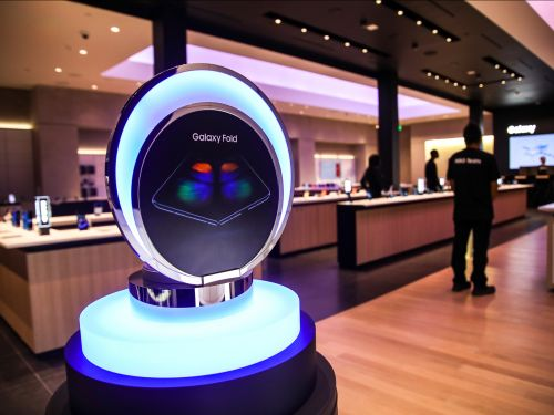 Inside Samsung's new Silicon Valley retail store, which is opening up down the road from its main rival, Apple