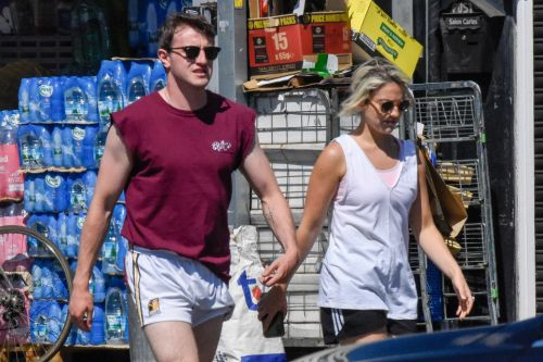 Normal People's Paul Mescal soaks up the sun on walk with his co-star and flatmate India Mullen
