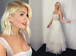 Dancing On Ice: Holly Willoughby embraces bridal chic in stunning white sheer gown