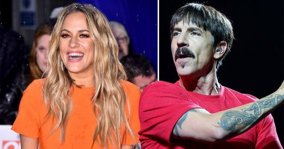 Caroline Flack reveals Red Hot Chili Peppers' Anthony Kiedis once massaged her feet mid-interview