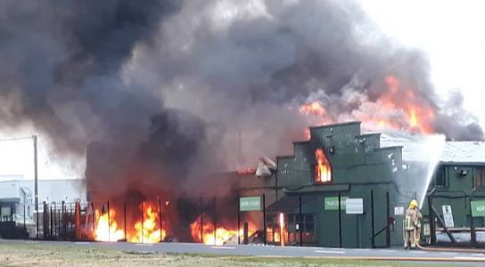 Watch: Large fire rips through Ballymena business - MLA fears for jobs