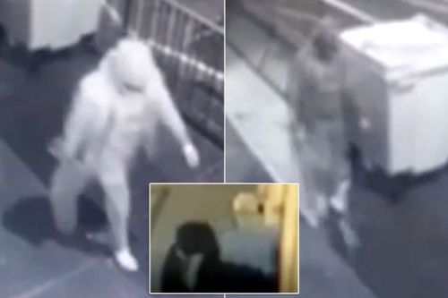 Terrifying moment thugs smashing windows with sledgehammer at Muslims mosques