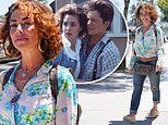 Back to the Future star Claudia Wells, 53, enjoys lunch in Los Angeles