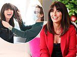 Davina McCall, 52, wears festive red trouser suit to host Boots' Christmas show