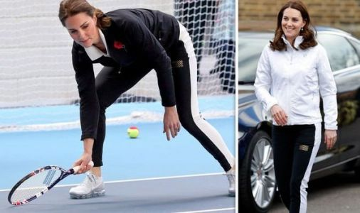 Kate spotted taking tennis lessons at exclusive club in London - and she is 'very good'