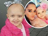 Mother reveals how a BRUISE on her daughter's eye turned out to be Stage 4 neuroblastoma