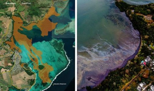 Mauritius oil spill from space: Satellite photos expose scale of 'environmental emergency'