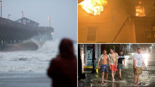 Tropical storm Isaias batters US east coast with flooding, fires, tornadoes and 85mph winds