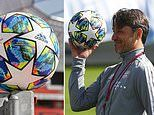 Adidas unveil new multi-coloured ball which will be used as Champions League kicks off