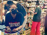 Rihanna keeps a low profile as she hunts for ingredients at two different grocery stores