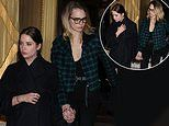 Cara Delevigne and girlfriend Ashley Benson step out hand in hand at Paris Fashion Week