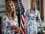 Ivanka Trump wears her favorite floral dress to attend human trafficking event