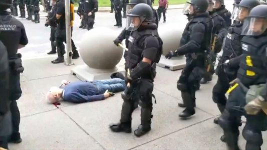 57 cops resign in 'disgust' after 2 colleagues suspended for shoving peace activist, 75, to ground
