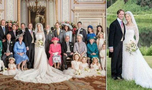 Lady Gabriella Windsor releases official royal wedding pictures - Queen BEAMS with Philip