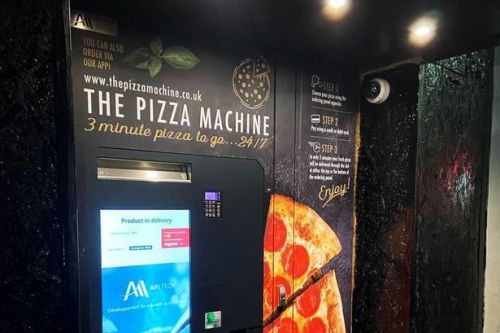 Scotland's first pizza vending machine launched in Glasgow