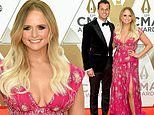 Miranda Lambert puts on a leggy display in fuchsia with husband Brendan Mcloughlin at CMA Awards