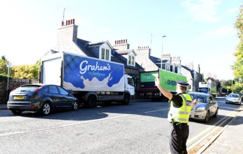 Car wrecked in Aberdeen crash with lorry