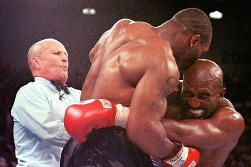 Mike Tyson's rivalry with Evander Holyfield which ended with ear in formaldehyde