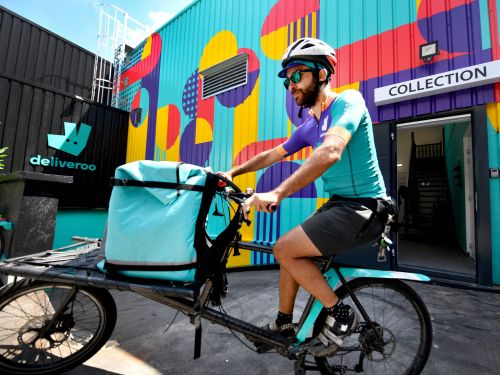 Food delivery apps are switching to 'no contact' dropoffs as usage during coronavirus lockdowns spikes